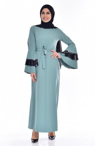 Kleid mit Pailetten 60685-01 Helles Grün 60685-01