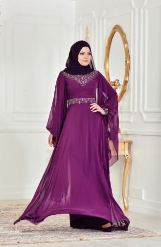 Purple İslamitische Avondjurk 8211-05