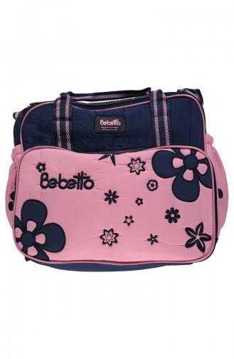 ببيتو حقيبة العناية بالطفل بتصميم كبير P702-LACIPMB لون كحلي و زهري 702-LACIPM
