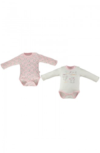 Bebetto Body Manches Longues 2 Pieces T1283-PMB Rose 1283-PMB