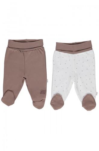 Bebetto Cotton Footed Pants 2 Pcs T1299-KHV Brown 1299-KHV