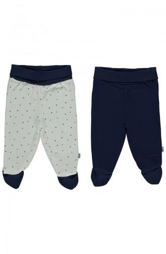 Bebetto Pantalon a Chaussettes 2 Pieces T1299-LACI Bleu Marine 1299-LACI