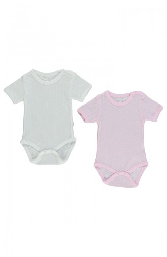 Bebetto Body Manches Courtes 2 Pieces T1392-PMB Rose 1392-PMB