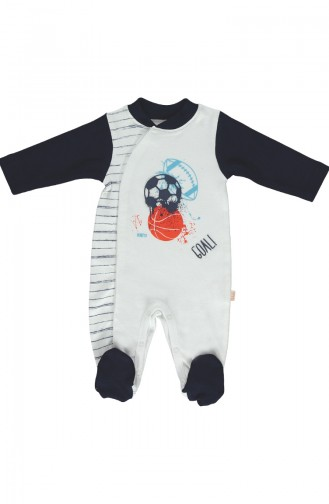 Bebetto Cotton Overalls T1447-Lc Navy Blue 1447LC