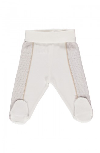 Bebetto Cotton Footed Pants T1454-BJ Beige 1454BJ
