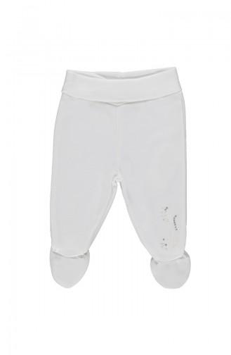 Bebetto Pantalon a Chaussettes T1478-EKR Ecru 1478-EKR
