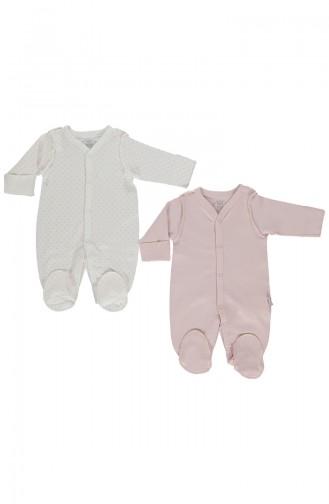 Bebetto Vêtements 2 Pieces T1521-GLKRS Rose Pâle 1521-GLKRS