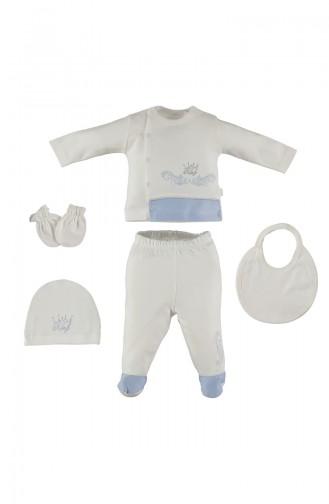 ببيتو طقم ملابس اطفال لحديثي الولادة عدد 5 قطع  Z497-MV لون ازرق 497-MV