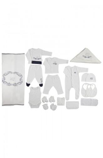 ببيتو طقم ملابس اطفال لحديثي الولادة عدد 20 قطع  Z499-LACI لون كحلي 499-LACI