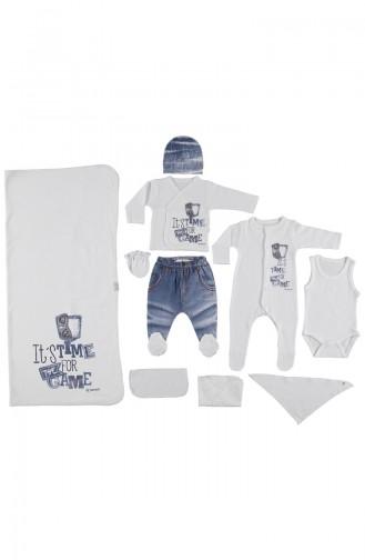 ببيتو طقم ملابس اطفال لحديثي الولادة عدد 20 قطع  Z515-BYZ لون ابيض 515-BYZ