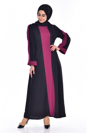Garnili Dress 3309-04 Black Plum 3309-04