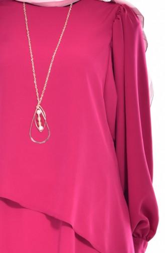 Tunika mit Halskette 8129-03 Kirsche 8129-03