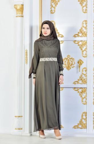 Islamic Clothing Dress FY 51983-20 Khaki 51983-20