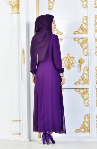 Purple İslamitische Jurk 52221-19