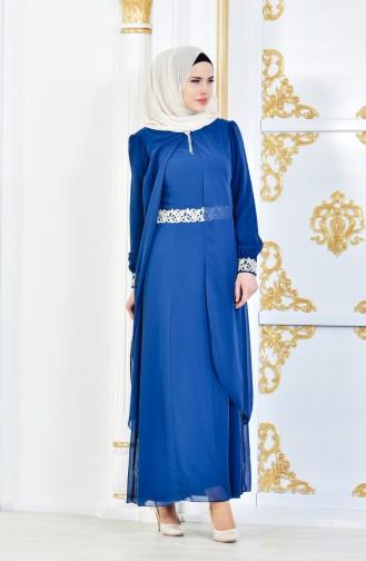 Oil Blue İslamitische Jurk 52221-21