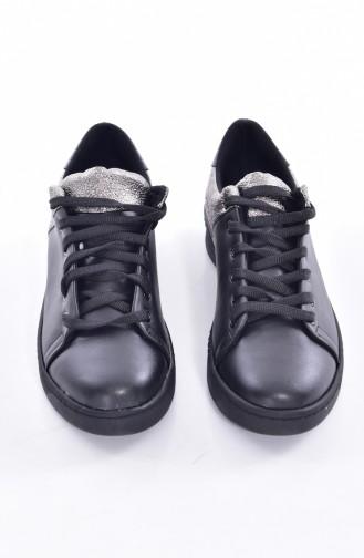 Chaussure Basket Pour Femme 50221-02 Noir Platine 50221-02