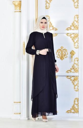 5048d8cfa222b Siyah Tesettür Elbise Modelleri ve Fiyatları - Tesettür Giyim ...