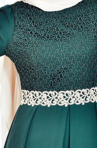 Lace Detail Dress FY 51983-08 Green 51983-08