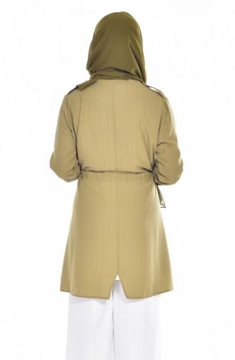 Tunik Ceket İkili Takım 1714411-01 Haki Yeşil