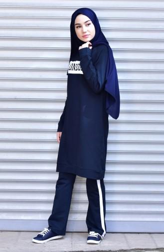 Navy Blue Sweatsuit 18049-02