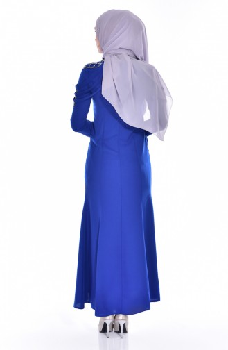 Robe Bordée de Pierre 3384-01 Bleu Roi 3384-01
