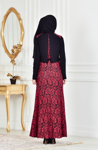 Red İslamitische Avondjurk 1713178-03