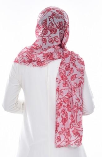 Armine Printed Cotton Shawl 077-023-17 Coral 077-023-17