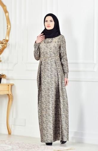 Robe de Soirée a Paillette 8085-03 Noir Poudre 8085-03