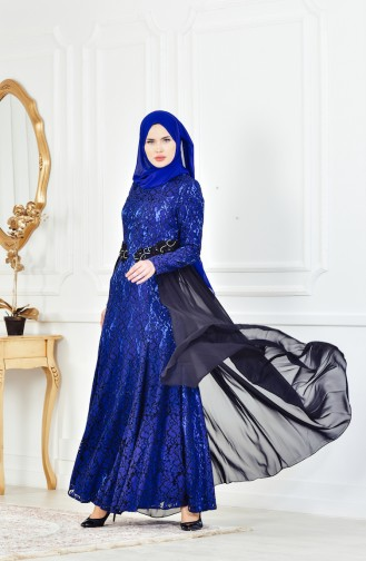 Black Islamic Clothing Evening Dress 1713205-02