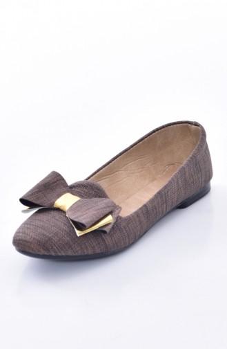 Brown Woman Flat Shoe 50192-11