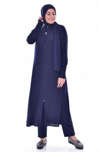 Navy Blue Abaya 1018-02