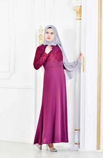 Purple İslamitische Avondjurk 1713179-01
