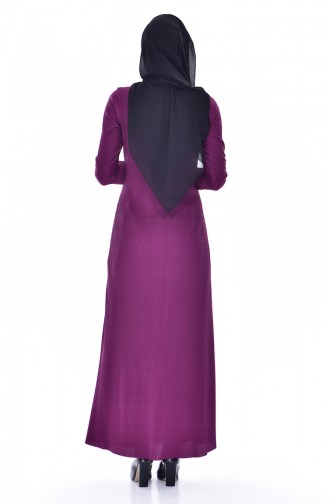 Gefaltetes Kleid mit Spitzen 4818-05 Lila 4818-05