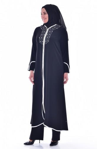 Abaya a Fermeture 1006-04 Noir 1006-04