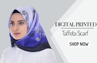 Digital Printed Taffeta Scarf 95113