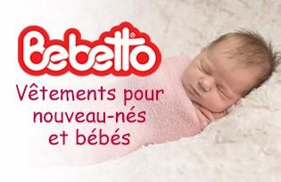 Bebetto Vêtements pour nouveau-nés et bébés