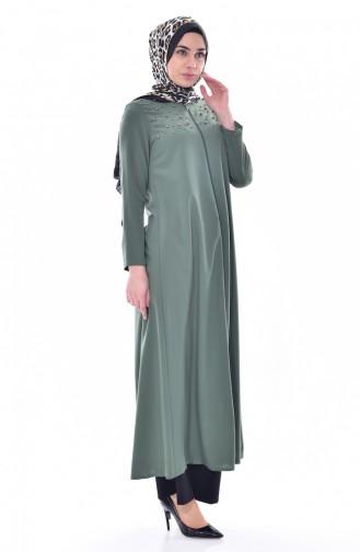 Khaki Abaya 4012-02