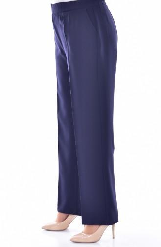 Pantalon élastique avec Poches Grande Taille 3103-04 Bleu Marine 3103-04