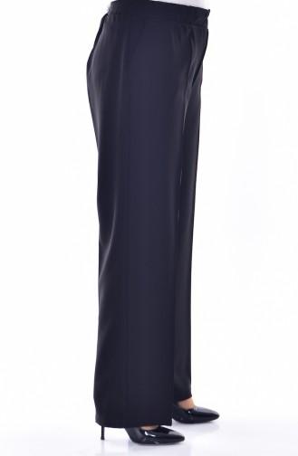 Übergröße Hose mit Gummi 3103-05 Schwarz 3103-05