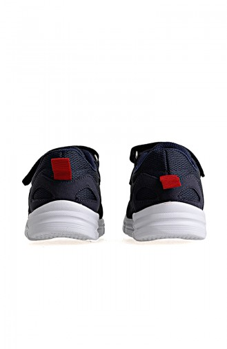 Kinetix 8P Kids Sport Shoes 100315111 Navy Blue Red 100315111