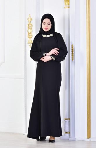 Black İslamitische Avondjurk 1056-02