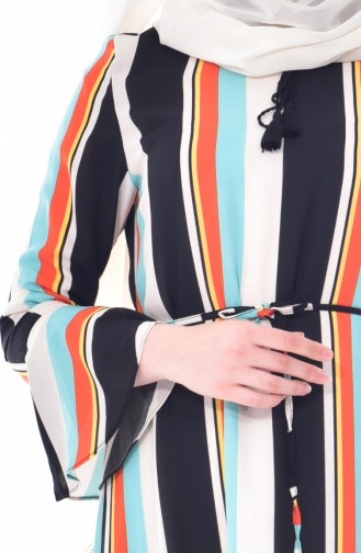 Spanish Arm Striped Tunic 50193-02 Black Green 50193-02