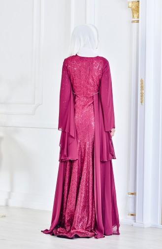 فستان بتصميم مزين بتفاصيل من الترتر  1713196-01