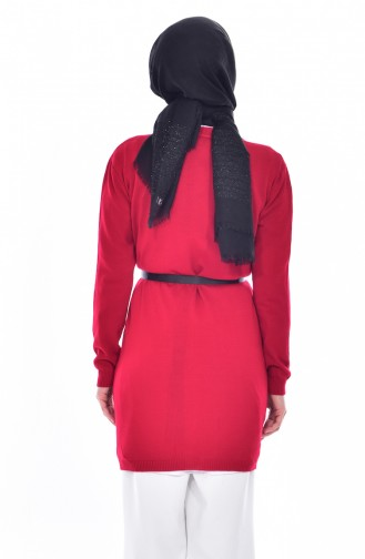 Belted Cardigan 4670-06 Red 4670-06