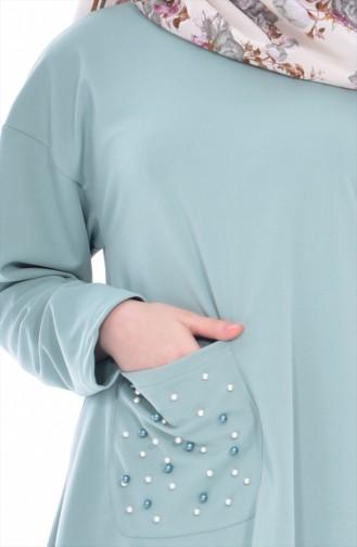 Tunik Etek İkili Takım 5120-09 Açık Mint Yeşil