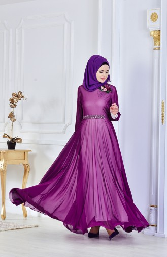 Purple İslamitische Avondjurk 1713167-02