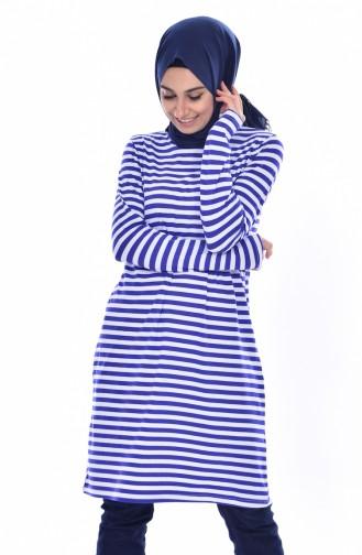 BWEST Striped Tunic 8146-05 Saks 8146-05