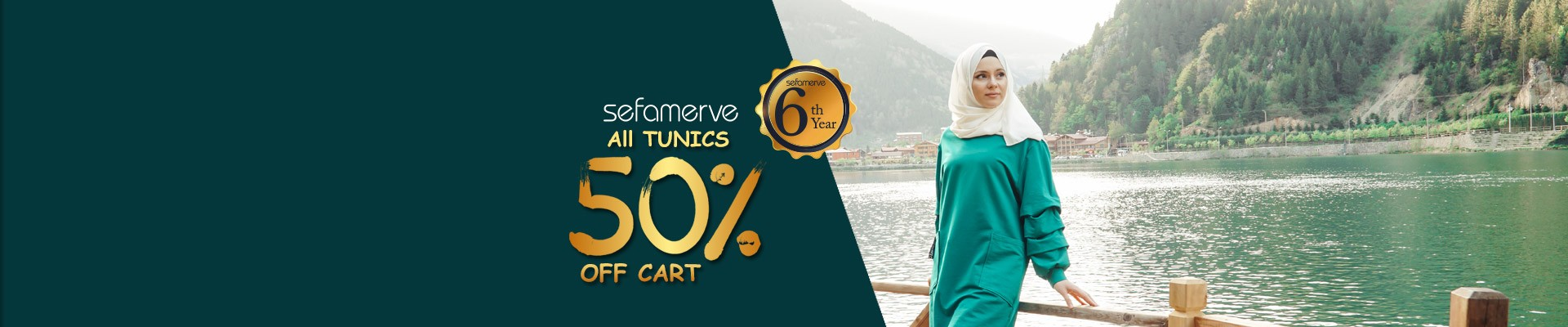 50% Off Cart On All sefamerve Tunics