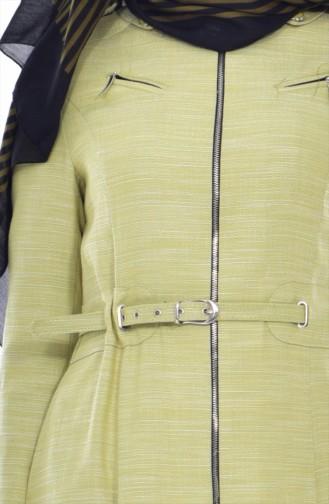 Trenchcoat mit Gürtel 1401-01 Pistaziengrün 1401-01