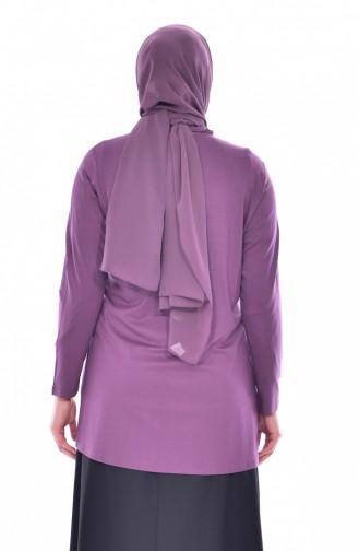 Broşlu Bluz Ceket İkili Takım 1016-04 Gül Kurusu 1016-04